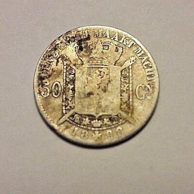 50 centimes cent Leopold II 1898 NL Vlaams Belgïe Belgique Belgium