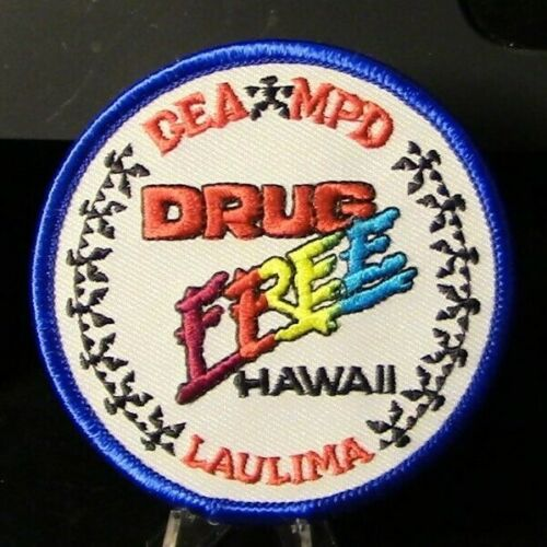 """Retired Patch: Laulima Hawaii DEA/MPD """"DRUG FREE"""" Patch"""