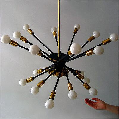 STILNOVO MID-CENTURY MODERN DESIGN SPUTNIK CHANDELIER PENDENT LAMP EAMES ERA