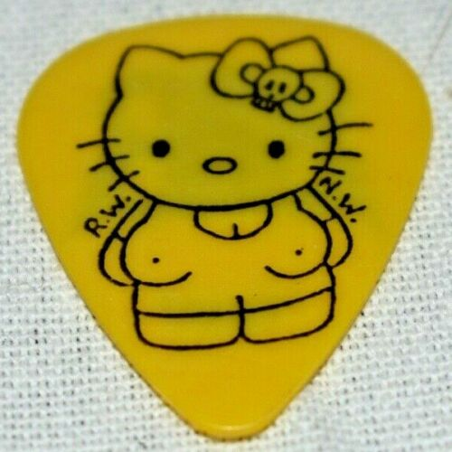 All American Rejects Hello Kitty Yellow Guitar Pic pick 2009