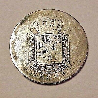 1 Frank 1866 Frans * LEOPOLD II * Belgïe Belgique 1 Franc Belgique