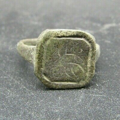 Genuine Jacobean period copper alloy finger ring 400 years old
