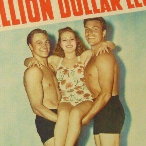 "Betty Grable ~ Million Dollar Legs ~ Title Card ~ Sexy Men ~ 12.75"" x 9.75"""