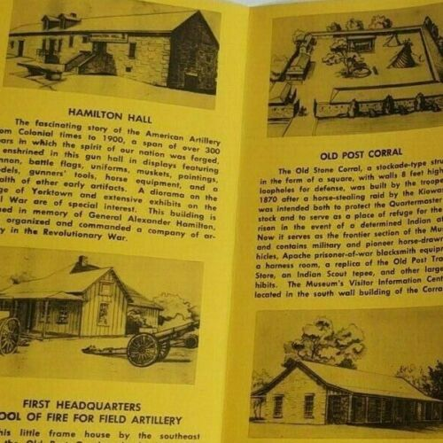Vintage 1960s Fort Sill Museum Guardhouse Oklahoma Brochure Pamphlet Ad Map