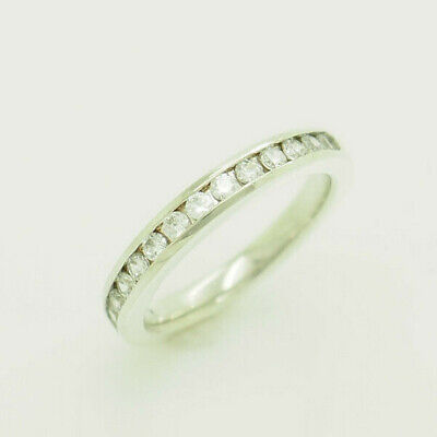 ArtCarved Silver/925 0.40ctw Round Cut Cubic Zirconia Half Eternity Ring 6.5 Artcarved Wedding Bands Round Ring