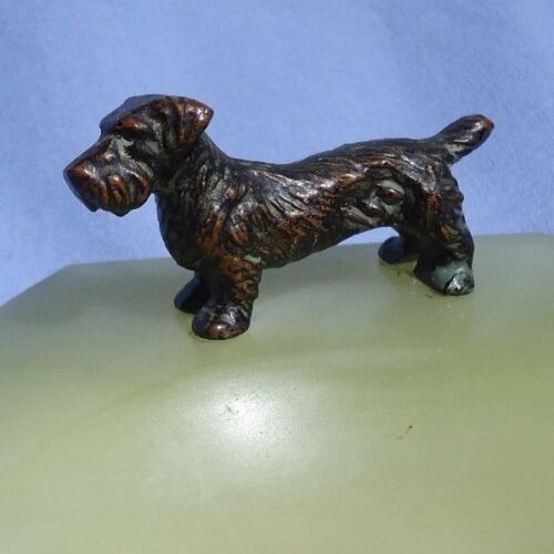 bronze SEALYHAM CESKY terrier Vienna Austria dog ring tray