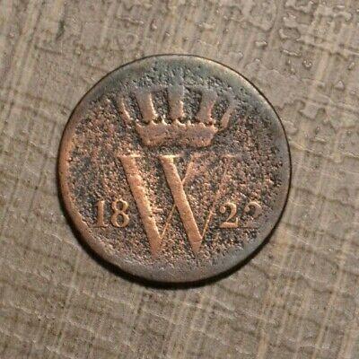 Netherlands 1 cent 1822