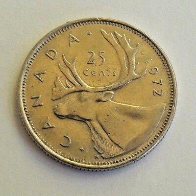 25 cents 1/4 dollar canada 1972