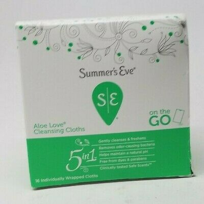 Summer's Eve Sensitive Skin Cleansing Cloths, Aloe Love 16 covid 19 (Moisturizing Cleansing Cloths coronavirus)