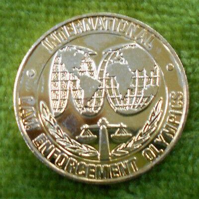 #D380. 1988 AUST. BICENTENARY  GILT MEDAL -  INTERNATIONAL LAW ENFORCE OLYMPICS