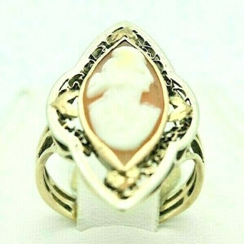 Ladies 10k Yellow Gold Cameo Ring