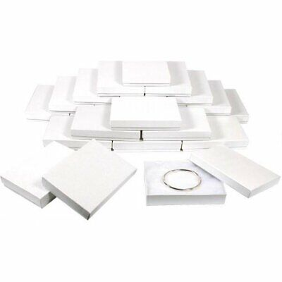 24 White Swirl Cotton Filled Jewelry Gift Boxes 5 38