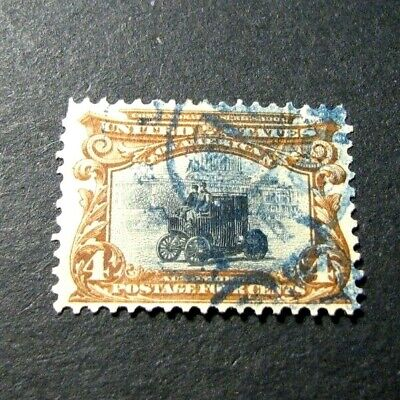 US Stamp Scott# 296 Electric Automobile 1901   H74