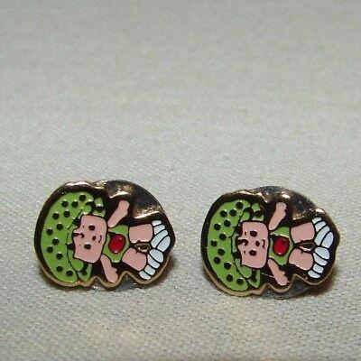 Vintage Strawberry Shortcake Apple Dumpling Custom Post Earrings Jewelry
