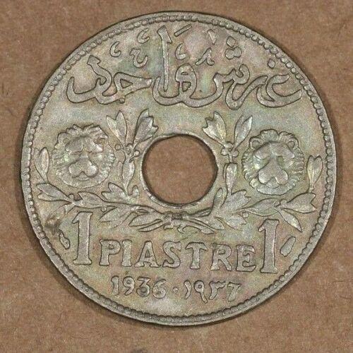 LEBANON 1 piastre 1936, KM#3, Circulated #2