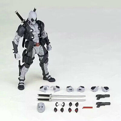 Marvel Legends  Grey DEADPOOL Action Figure Revoltech Kaiyodo Version Toy NO BOX