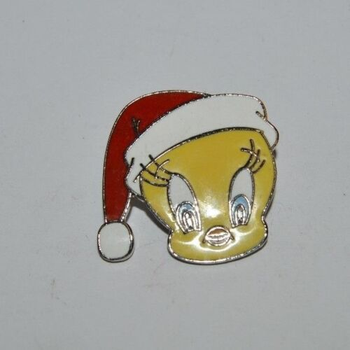 Nice Vintage Tweety Bird Warner Brothers WB Christmas Hat Cap Lapel Jacket Pin