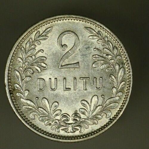 Lithuania Silver 2 Litu  1925  AU+  A1227