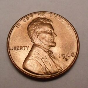 1948 S Lincoln Wheat Cent Penny / Coin   *FINE OR BETTER*   **FREE SHIPPING**
