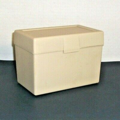 STERLING 4x6 Vintge File Box,400 Card Capacity w/ SMEAD A-Z Index & 80 Lined Cds ()