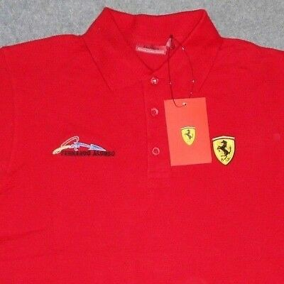 Ferrari Fernando Alonso Polo Shirt Official Product Small New With Tags