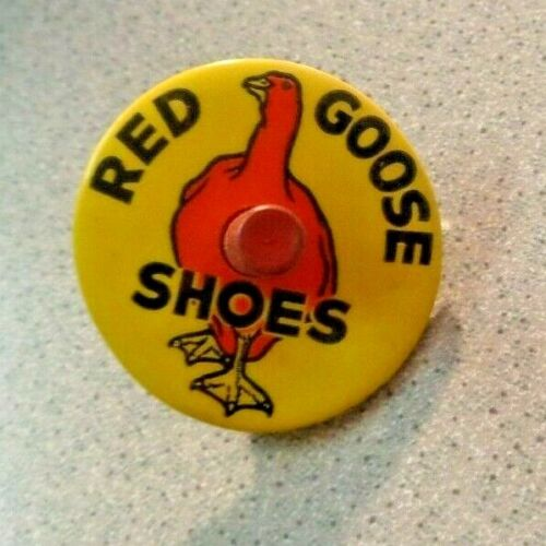 Vintage RED GOOSE SHOES AD SPIN TOP TOY Parisian Novelty Chicago Co. Graphic Art