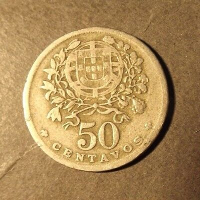 PORTUGAL 50 CENTAVOS COIN DATED 1947 SOME WEAR