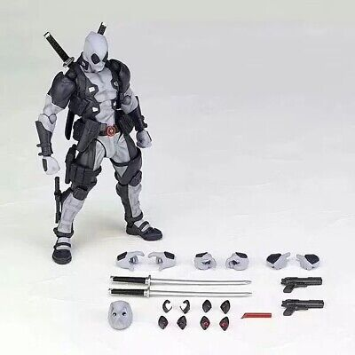 Amazing Yamaguchi Revoltech Marvel Deadpool Gray Color Action Figure New In Box