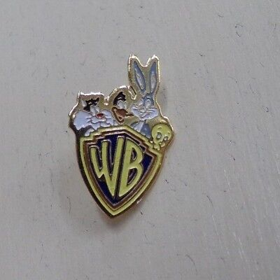 Warner Brothers Logo w/ Bugs Bunny, Tweety, Daffy Duck Hat or Lapel Hatpin   - Duck Or Bunny