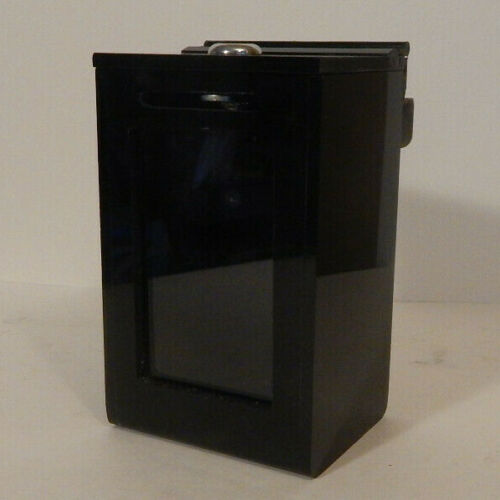 "7""H Acrylic Toke Box Casino Drop box  with J Hook and Lock w/Keys New open box"