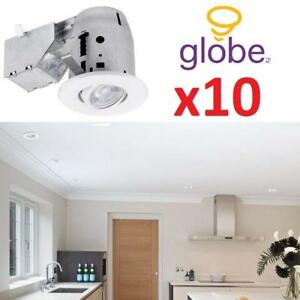 "NEW* 10 3"" RECESSED LIGHTING KIT 90953 219433092 LED RATED SWIVEL SPOTLIGHT DIMMABLE DOWNLIGHT GU10 BULDS INCLUDED"