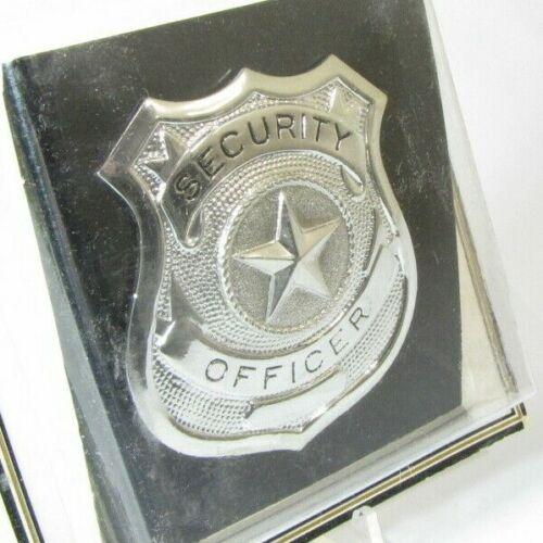 Vintage Obsolete New Cadet Silver Security Officer Badge Shield Star Center C17