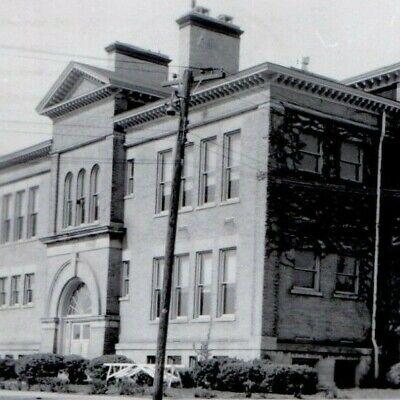 Morocco Grade School Indiana 1950 MCM Vintage B&W RPPC