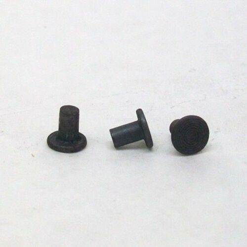 "YOU PICK 25/50/100/250/500 NEW 5/32 X 1/4"" FLAT HEAD SOLID STEEL RIVET PLAIN NH"