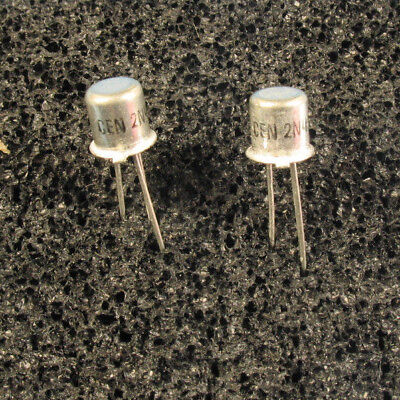 2pcs Central Semi 2n4393 N-channel Jfet Transistor To-18 Metal Can