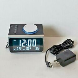 Small Spaces Radio Alarm Clock, Electric, USB & Battery Back Up - Black