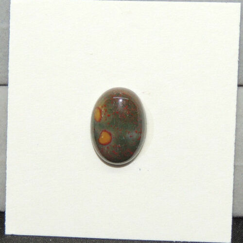 Bloodstone Cabochon 10x14mm with 5mm Dome from India  (13887)