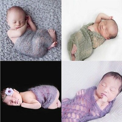 Babytuch Häkel Wickeltuch Mohair gestrickt Kostüm Baby - Kostüm Foto Shooting