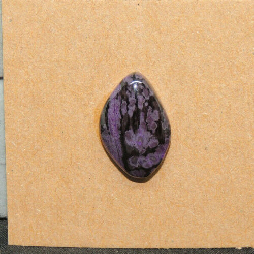 Sugilite Cabochon 17x11mm with 5mm dome (15551)
