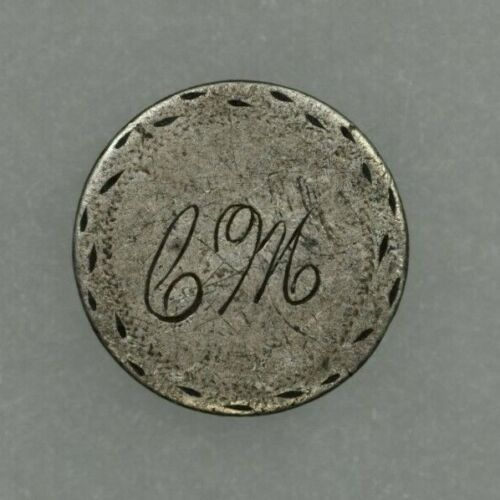"Seated Liberty Half Dime Love Token Initials ""CM"" Circulated"