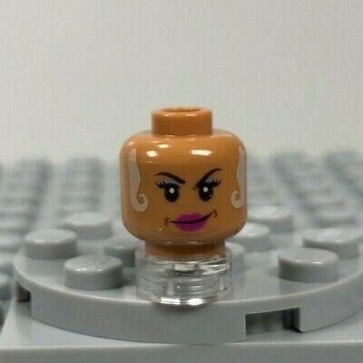 LEGO NEW FLESH MINIFIGURE HEAD BRIGHT WHITE SMILE GIRL FEMALE DUAL PIECE