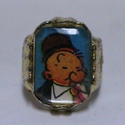 NICE VINTAGE NON FLICKER POPEYE WHIMPY CEREAL PREMIUM RING