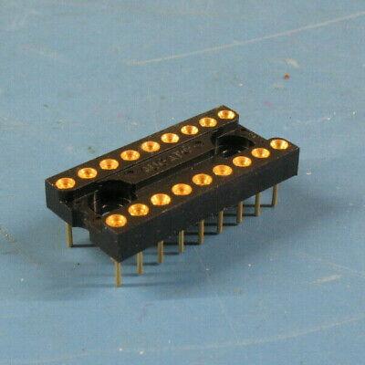 4 Pcs Augat Dip16 .300w Gold Machined Pin Ic Sockets