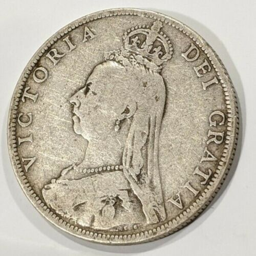 Great Britain 1889 Victoria Florin Silver Coin KM762 VF
