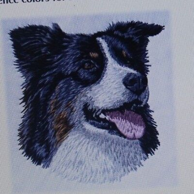 Collie Embroidered Fleece - Border Collie Dog Personalized Fleece Black Full Zip Jacket Embroidered