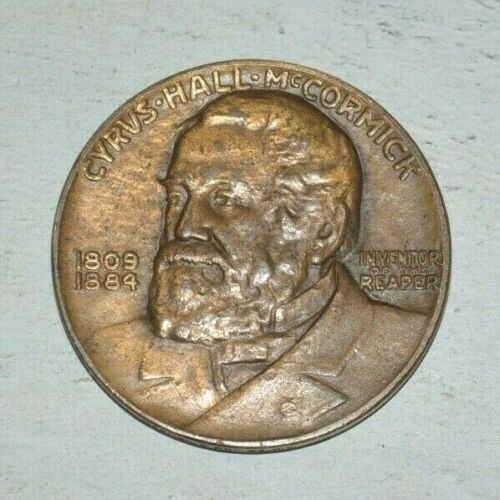 1831-1931 CENTENNIAL OF THE REAPER CYRUS HALL MCCORMICK 1809-1844 MEDALLION COIN