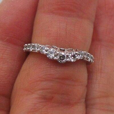 STUNNING 14K WG DIAMOND SWIRL BAND RING .40 tcw SZ 5  G111662-2  2.41 grams