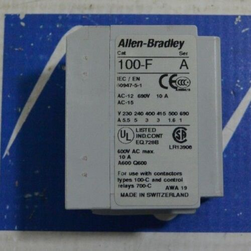 New Surplus Allen Bradley 100-F A20 Series A Auxiliary Contact