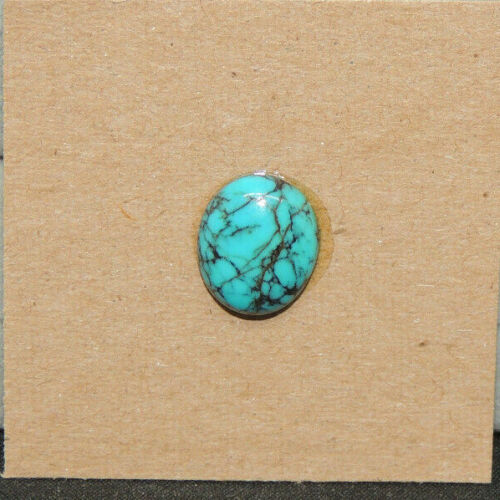Kingman Turquoise Cabochon 10x12mm with 4mm Dome from Arizona  (17562)