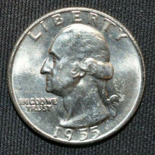 1955-D Washington Quarter ~ BU Uncirculated ~ LUSTER! ~ 90% Silver US Coin MQ